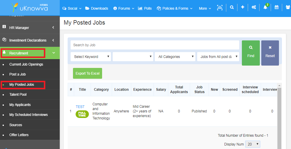How to edit a job posting on uKnowva - Recruitment Engine.