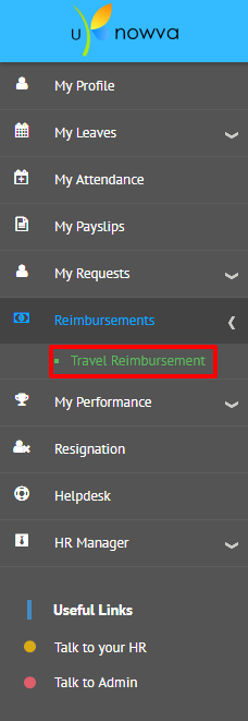 How to apply for a reimbusement request in uKnowva
